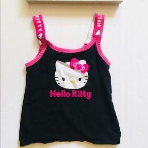 Hello Kitty Black Logo Tank Top